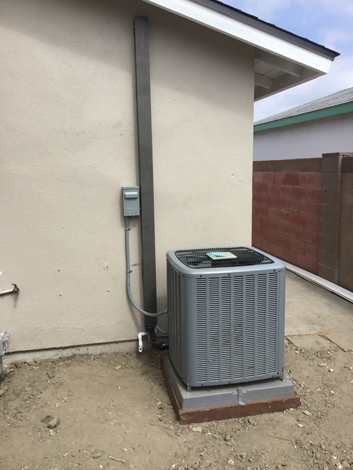 Westminster, CA - Re-installed condenser to previous location