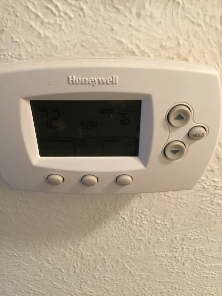 Cypress, CA - Testing thermostat