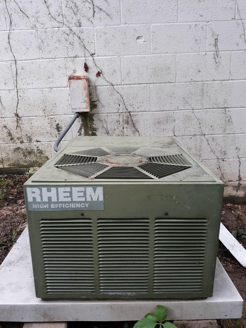 medium resolution of columbus ga rheem air conditioner repair wiring repair made the old system