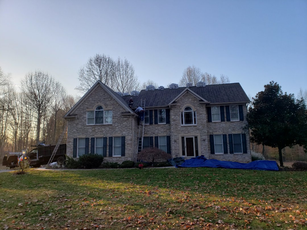 Street, MD - Install GAF Lifetime Timberline Ultra Lifetime HD Golden Pledge roof system with 25 year workmanship warranty.  Weatheredwood in color