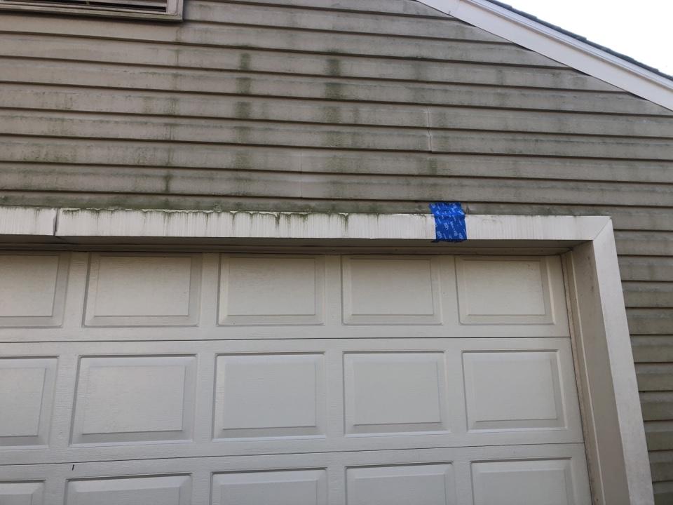 Clarksville, MD - Garage door trim repair