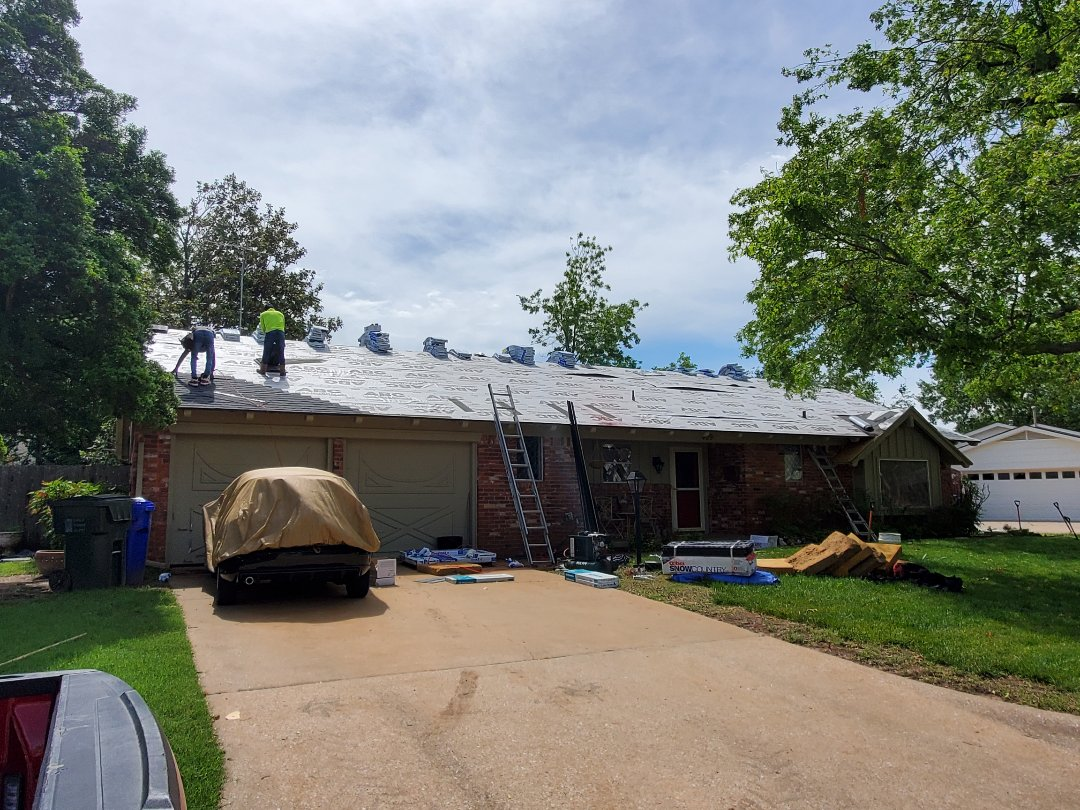 Norman, OK - Replacing a Roofing system. Malarkey Vista AR Midnight Black. Call today for your free roof evaluation. 918-639-1672