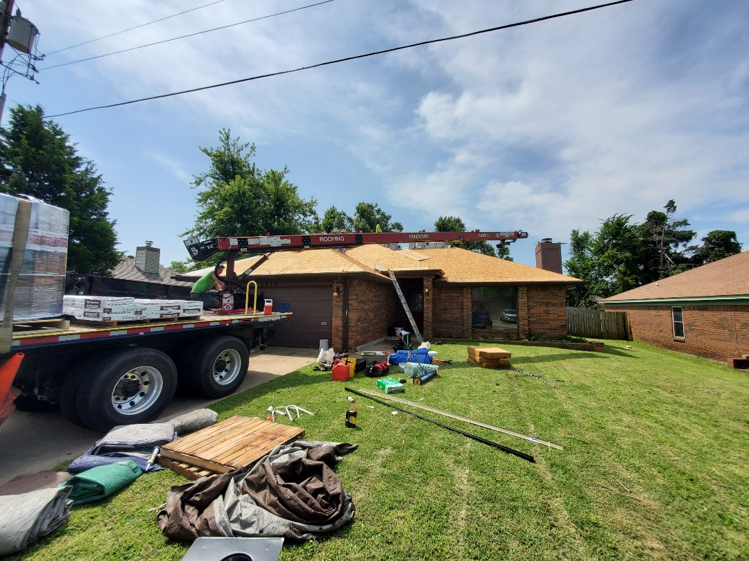 Bethany, OK - Installation of roofing system. Class 4 impact resistant shingle. Malarkey Legacy.