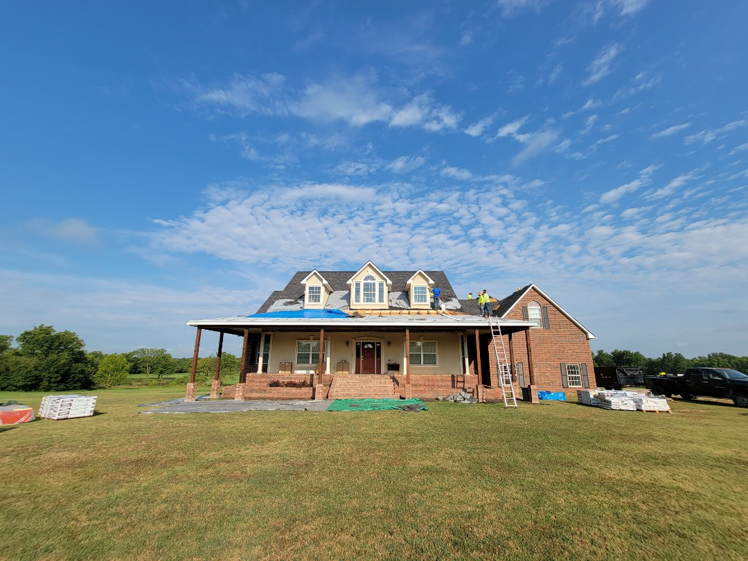Depew, OK - Roofing system replacement.