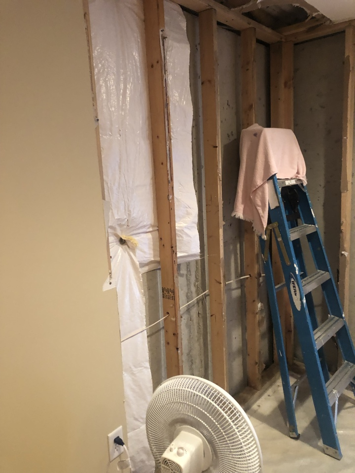 Severn, MD - Water leak and drywall repair