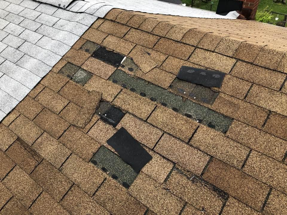 Baltimore, MD - Repairing shingles in Baltimore