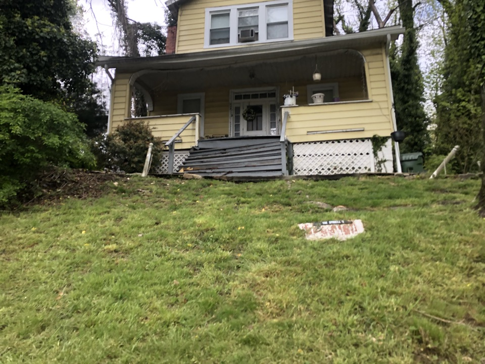 Baltimore, MD - Estimate appointment for front porch stair replacement in Forest Park