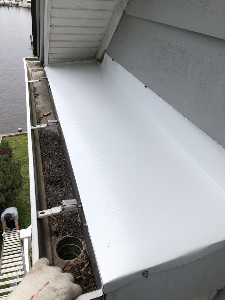 Annapolis, MD - Metal repair on a return block on the roof in Eastport md