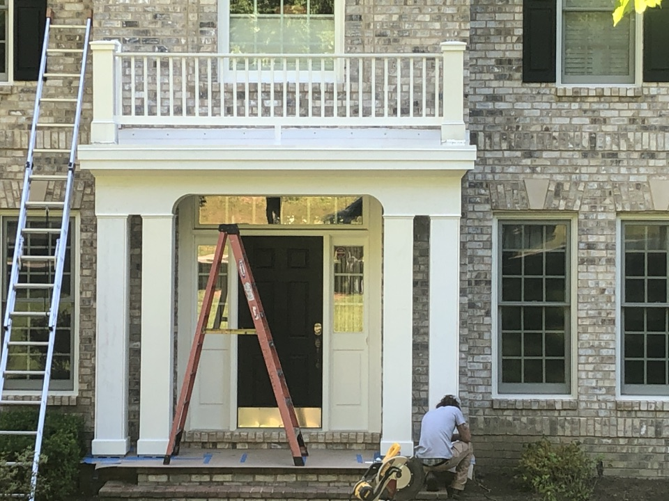 Edgewater, MD - Front portico renovation