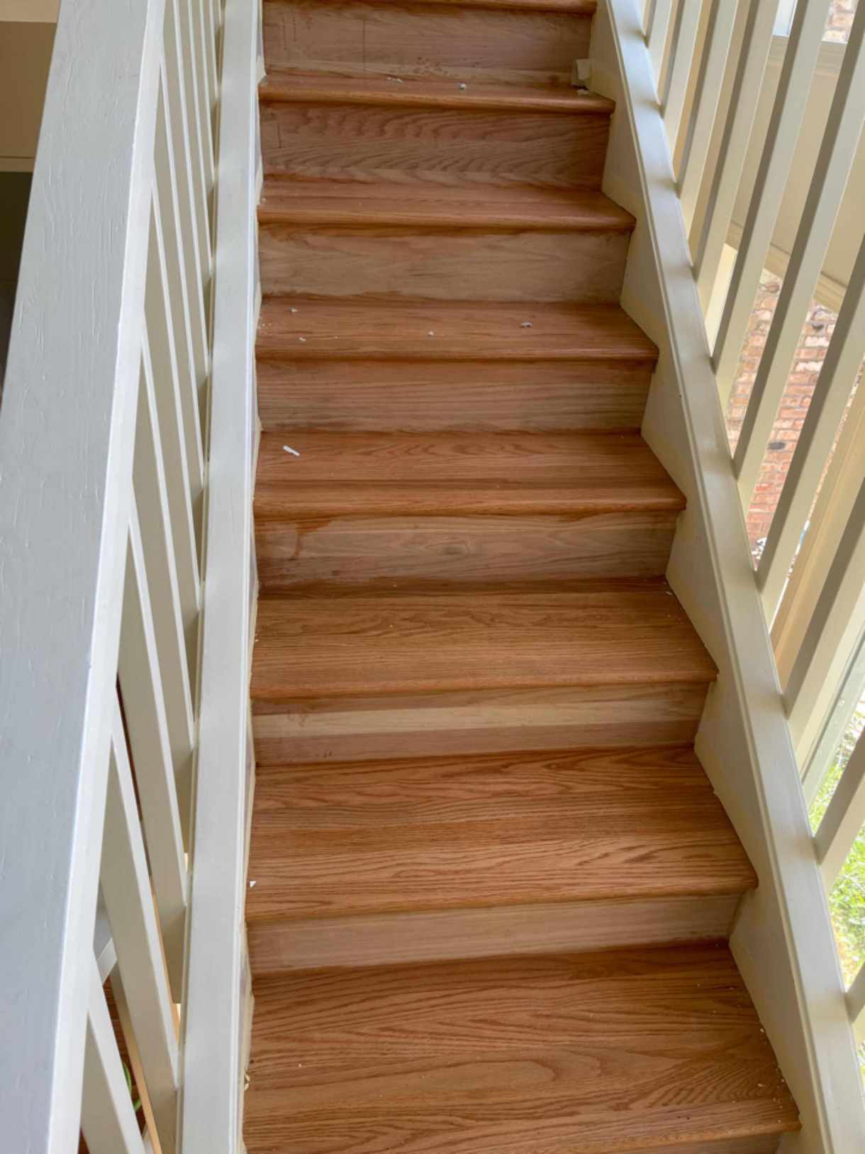 Install, stain, finish stair tread's and risers at client's home.