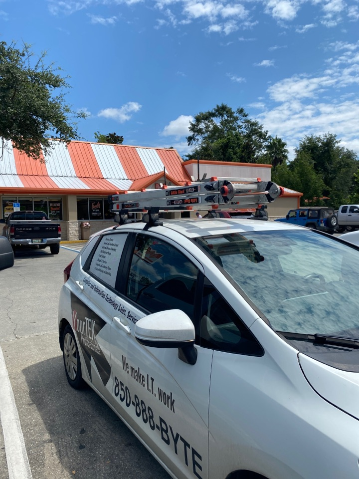 Milton, FL - Replacing a card reader here at this Whataburger in Milton