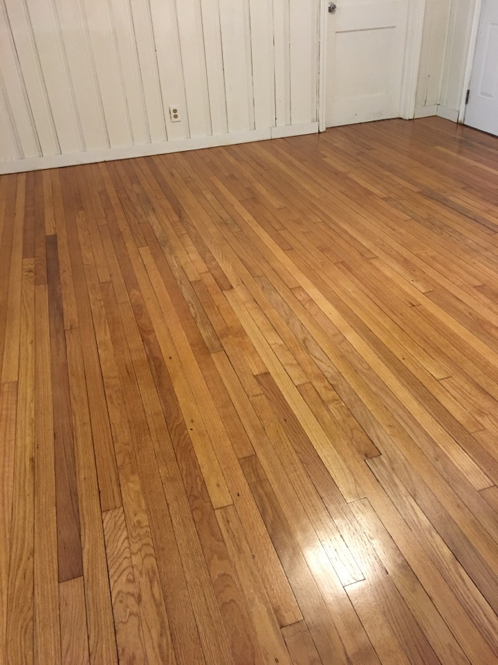 Saint Petersburg, FL - Sand & Refinish some old red oak floors that were previously damaged