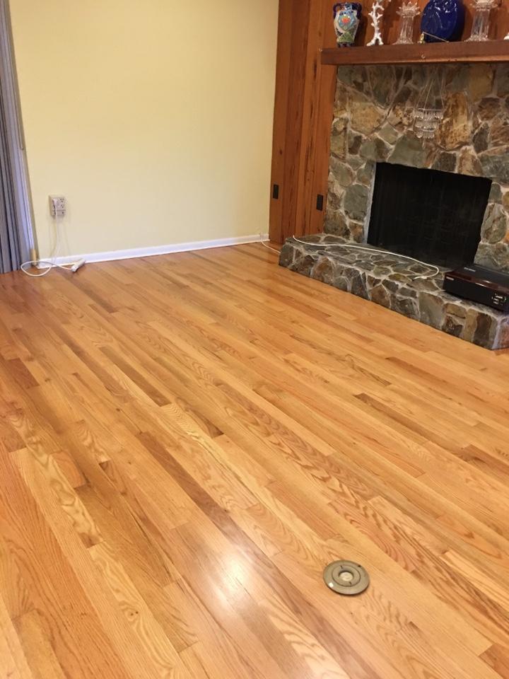 Largo, FL - Sand & refinish red oak flooring.