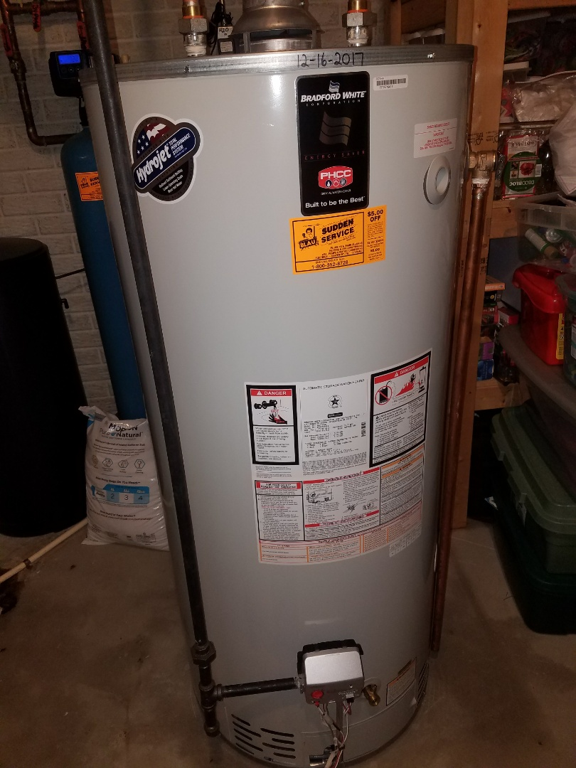 medium resolution of muskego wi furnished and installed bradford white water heater 75 gallon
