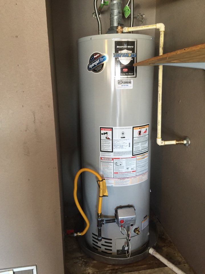Wylie, TX - Installed new 50 gallon gas water heater in garage