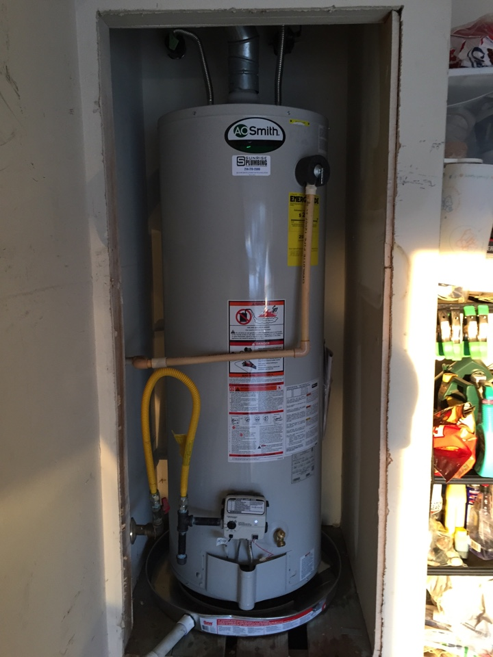 Wylie, TX - Install 50 gallon gas water heater in garage