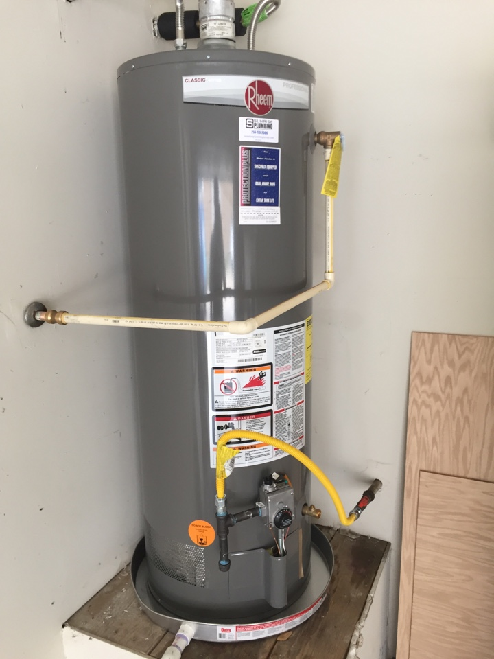 Murphy, TX - Install new 50 gallon gas water heater in garage with 10 year warranty. Murphy Plumber