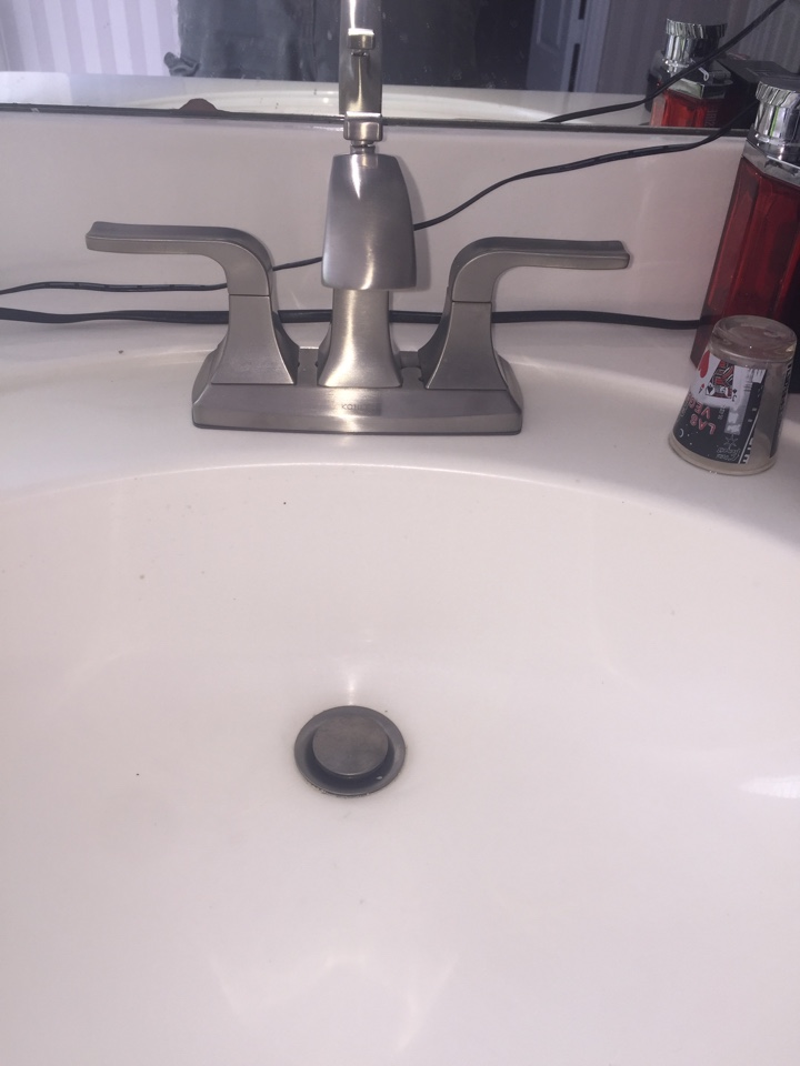 Irving, TX - Just installed three Kohler faucets in place of some older corroded faucets! Irving Plumbers!