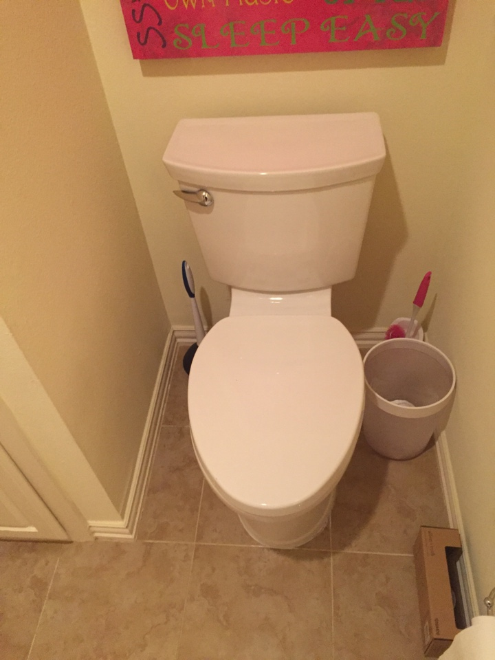 Irving, TX - Toilet in upstairs master bathroom is constantly running due to flapper and fill valve not working properly. Installing new fill valve and flapper or on toilet. Irving plumbers