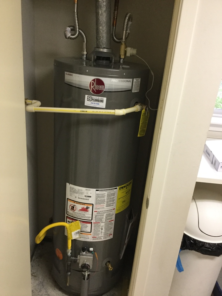 Richardson, TX - 50 gallon electric water heater in garage is leaking. Installed new 50 gallon electric heater with 6 year warranty.