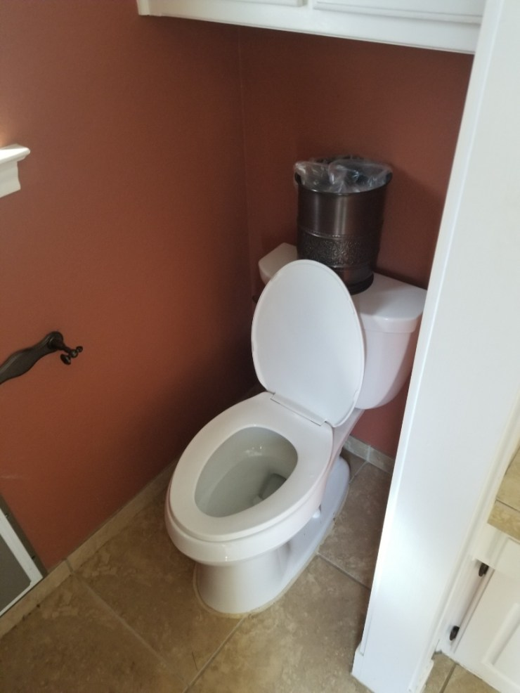 Plano, TX - Master bathroom toilet and shower are stopping up. Need repair.  Clear stoppage by running auger through clean out. Plano plumbers