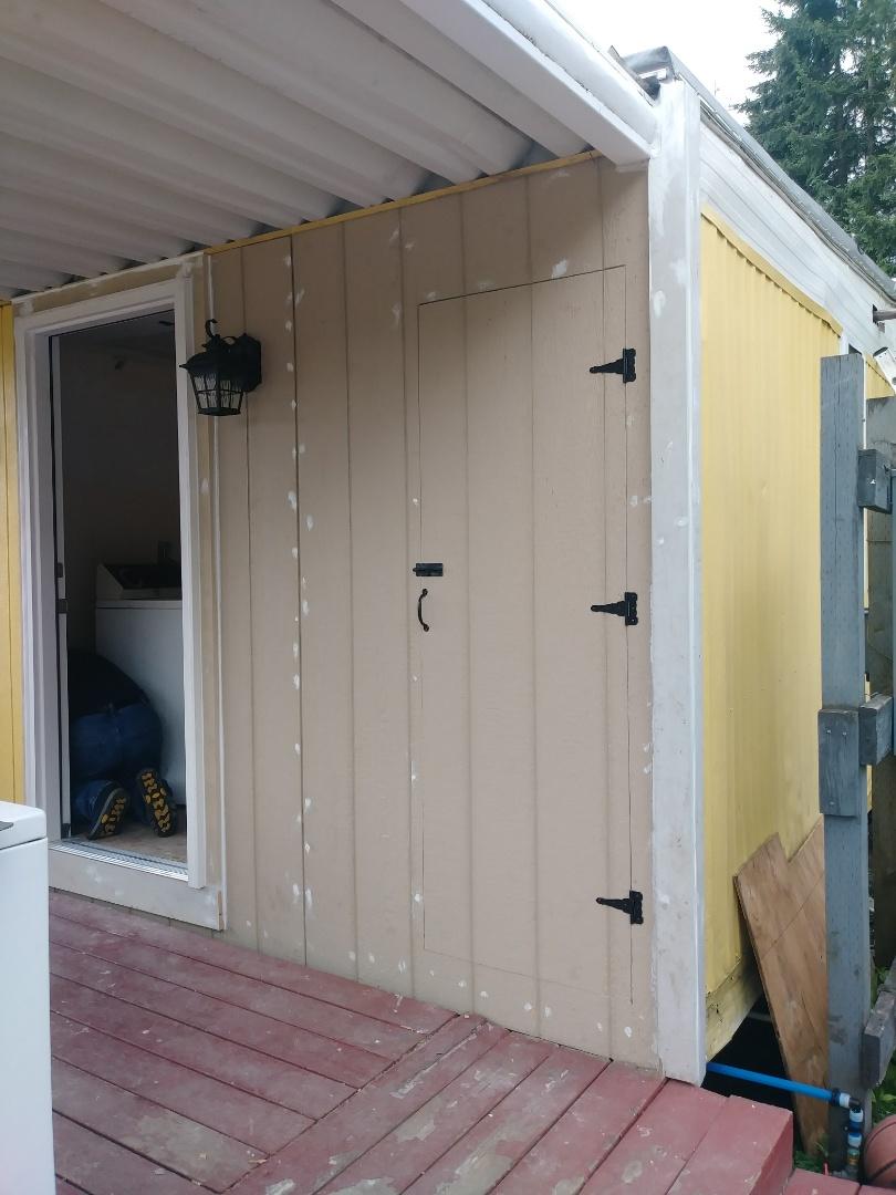medium resolution of drywall patch around fuse box exterior door installed hot water heater