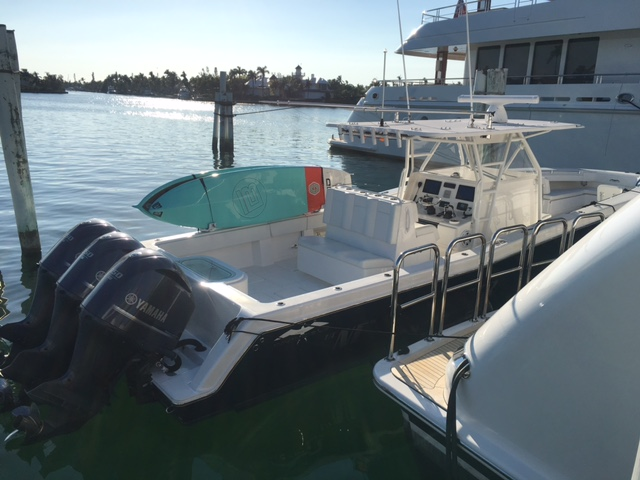 Stuart, FL - A product that brings together the boating industry and the paddle industry.