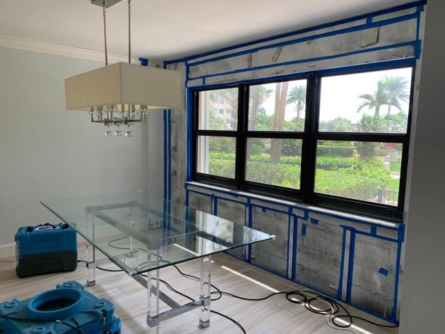 Lauderdale-by-the-Sea, FL - In this house our professional team worked on the water damage cleanup/restoration, and mold remediation