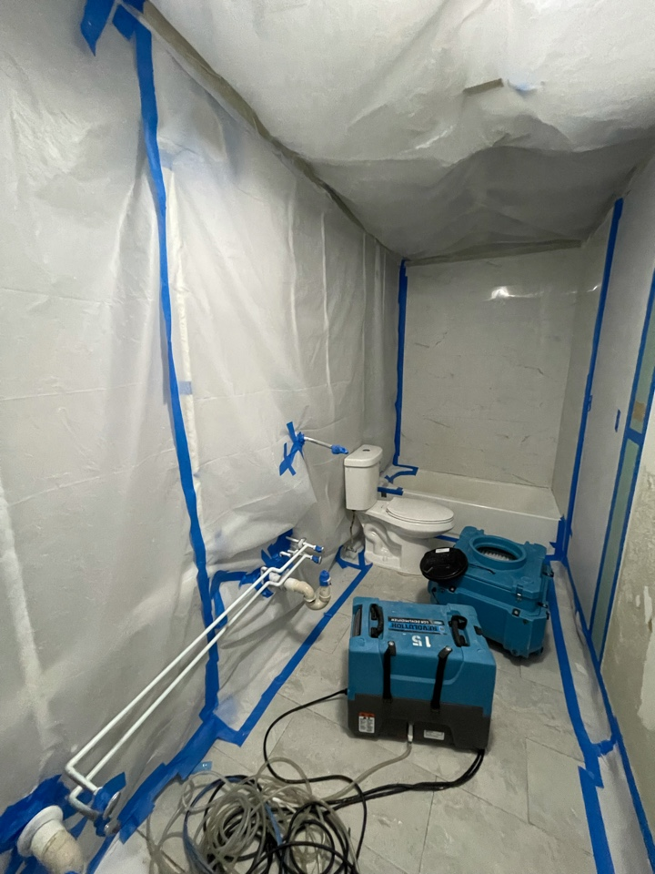 West Palm Beach, FL - Mold removal almost done and crew is getting ready for the 72 hour air recycling period.