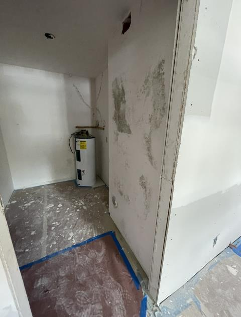 Boca Raton, FL - When planning for any renovations you must make arrangements to control relative humidity (RH). In this case Ambar Mold Restoration was called to remove mold from new drywall because RH rises well above 70% causing mold to grow on the wet drywall mud . Please consider our expert team for your remediation.