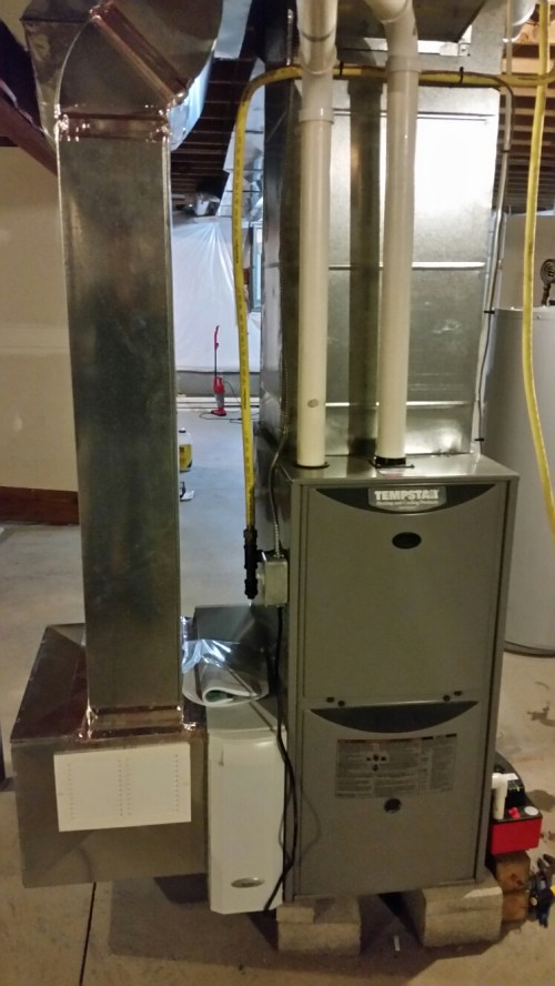 small resolution of cortland ny replace failed heat exchanger and install aprilaire high efficiency air cleaner on