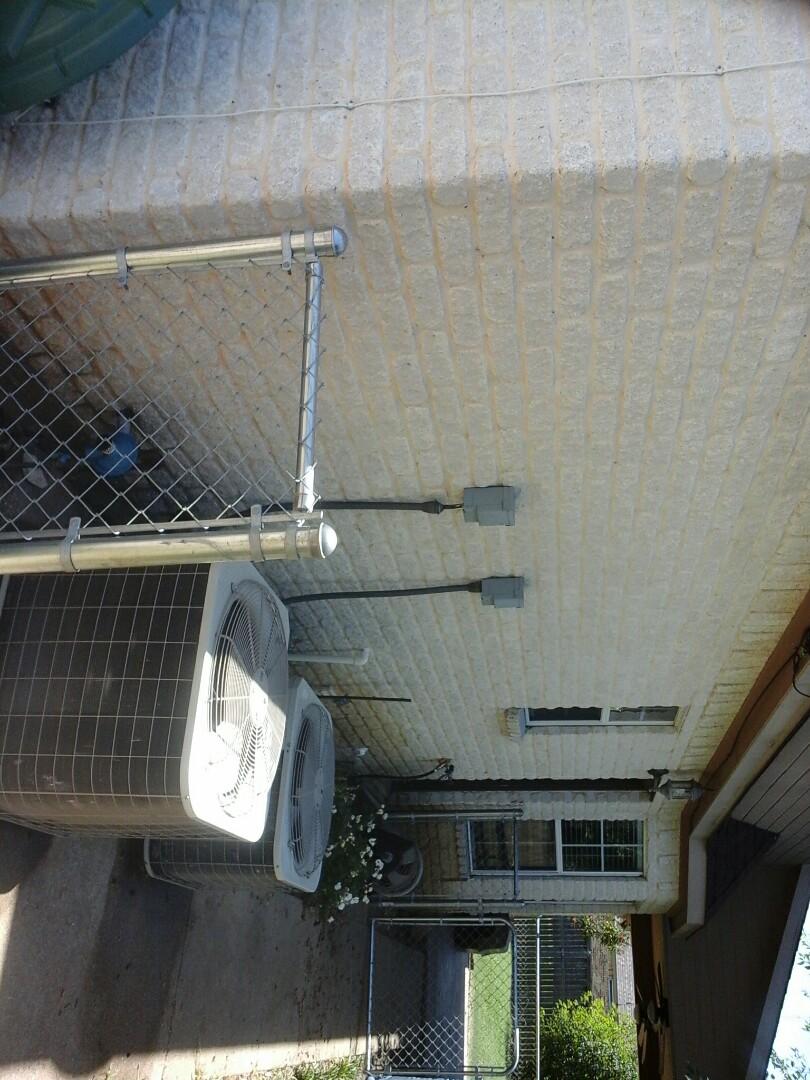 Midlothian, TX - A/C tune up, leaking hosebib