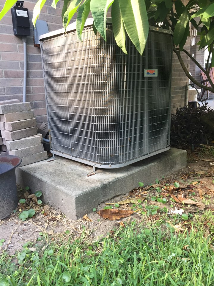 Galveston, TX - Out on a coolsaver tune-up in Galveston! Air conditioner repair in Galveston, TX