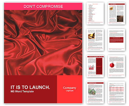 Red Silk Fabric Word Template Amp Design ID 0000006502