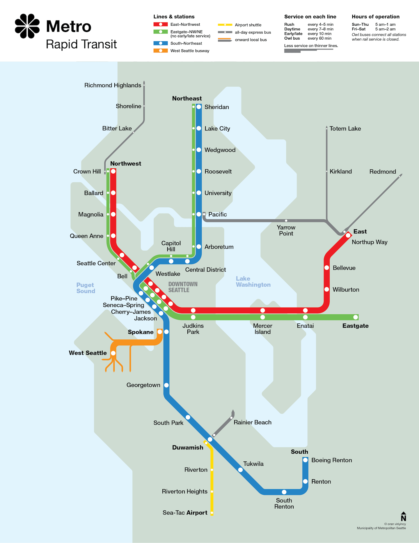 """Seattle Metro Rapid Transit Map """"circa"""" 1990 on us city map, puget sound map, victoria bc map, toronto canada map, victoria canada map, mt st helens map, lake chelan map, safeco field map, mount rainier map, oregon map, pike place market map, pacific northwest map, cascade mountains map, king county map, united states map, district of columbia map, alki point map, capitol hill map, washington map, usa map,"""