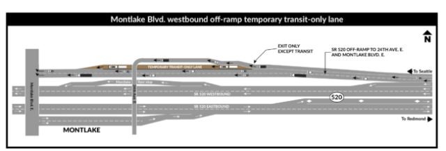 proposed bus lane on montlake offramp
