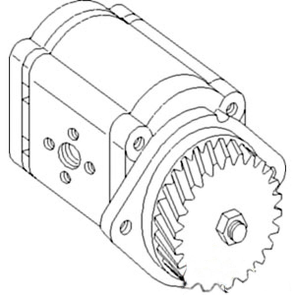 Hydraulic Pump For Ford New Holland Lb115 Loader; Ts90