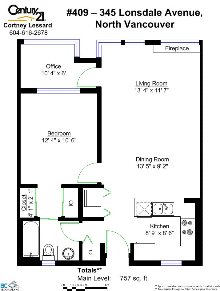 Lower Lonsdale Condo for sale: The MET 1 + Office 757 sq