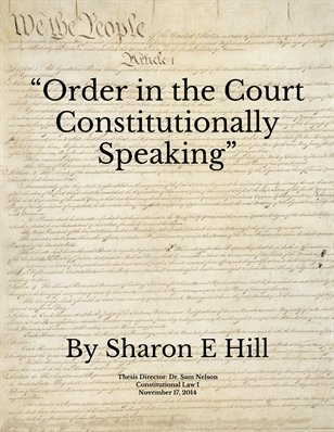 'Order In The Court' Constitutionally Speaking