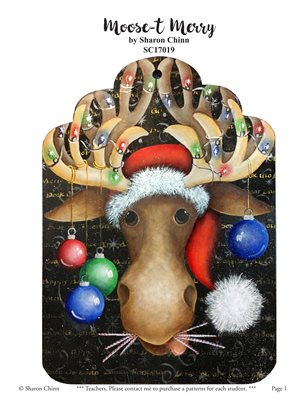 Moose-t Merry Printed Painting Pattern