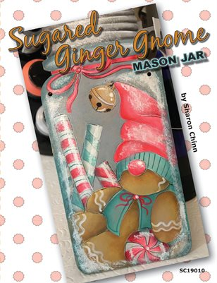 Sugared Ginger Gnome Mason Jar Painting Pattern by Sharon Chinn - SC19010
