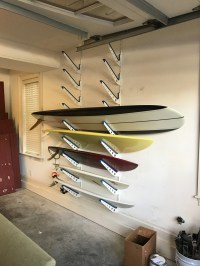 Adjustable Metal Surfboard Wall Rack | 4 Boards ...