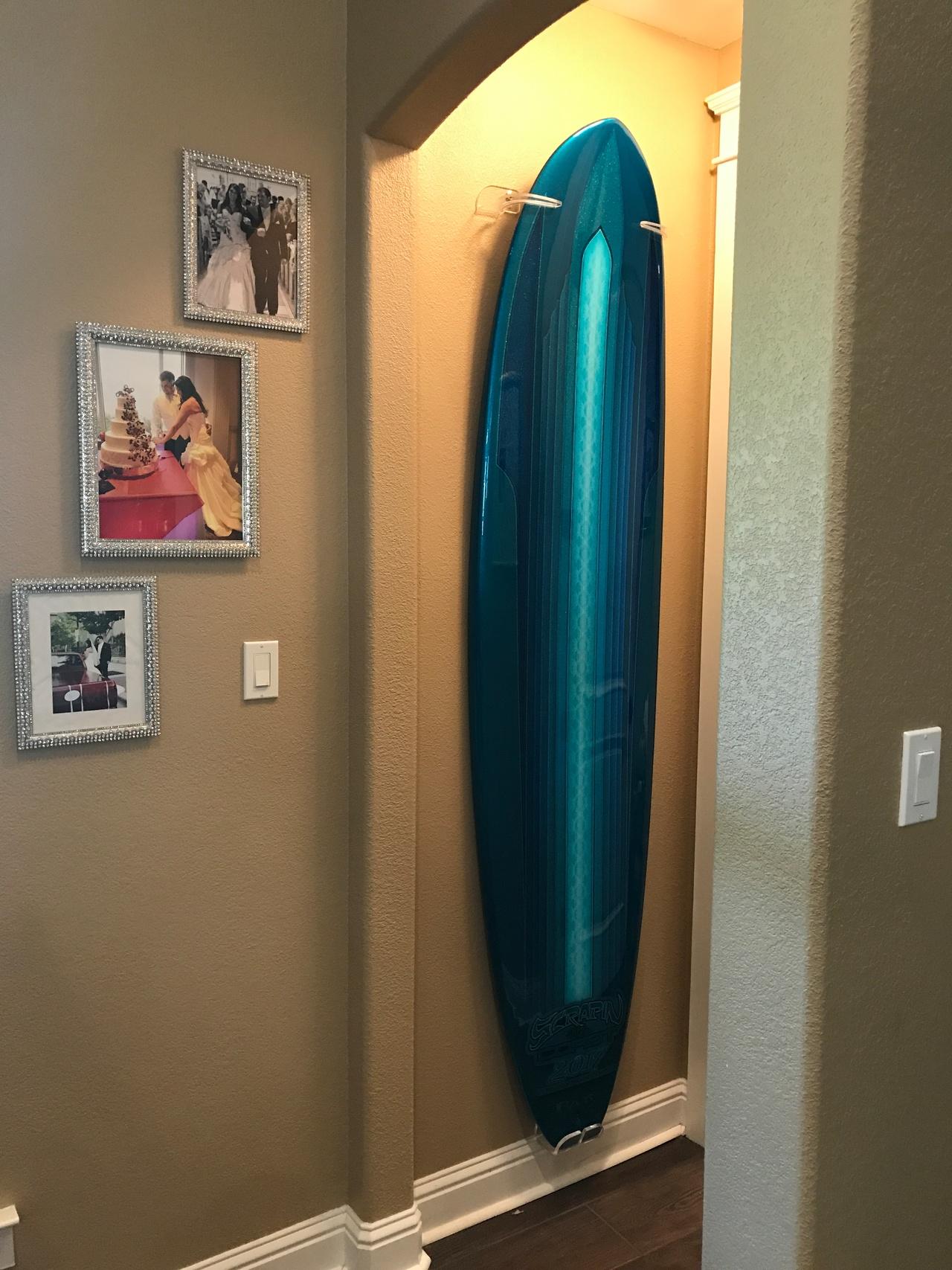 Vertical Surfboard Display Rack