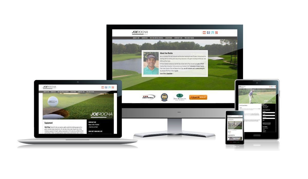 Joe Rocha Golf Website