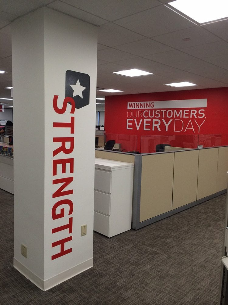Interior Graphics - Verizon - Brooklyn