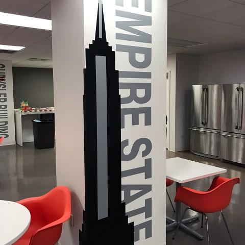 Empire State Building Column Wrap