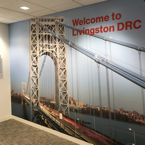 WelcomeLivingston Wall Mural   Large Format Digital Printing