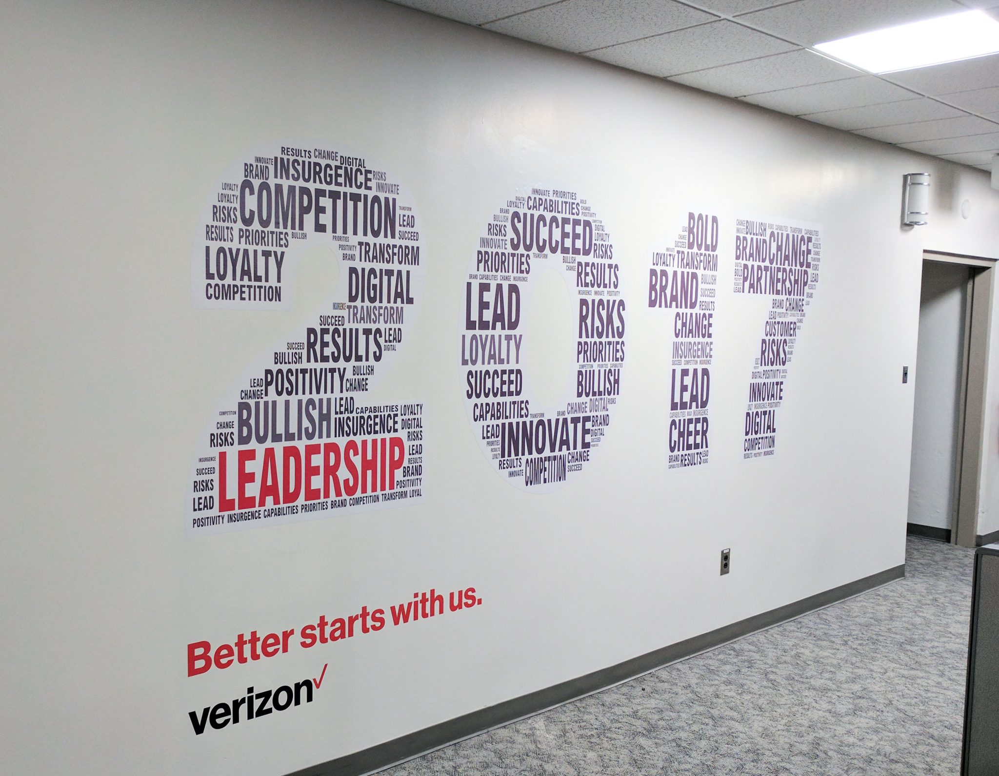 Verizon Philadelphia 2017 Wall Graphic