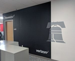 Verizon Philadelphia Liberty Bell Chalk Board | Large Format Printing | Boston & Medford, MA