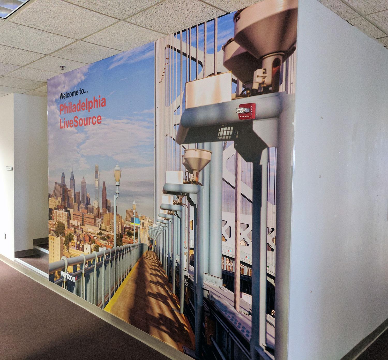 Verizon Philadelphia LiveSource Mural